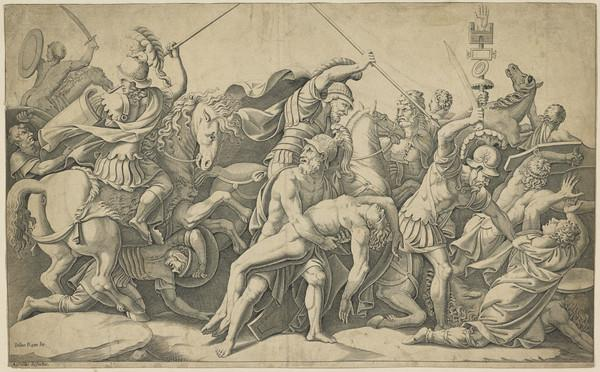 The fight over the body of Patroclus