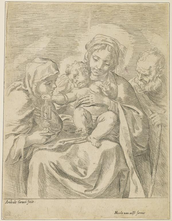 The Holy Family with St Claire