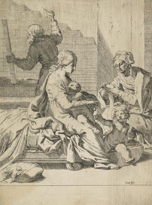 Holy Family with St Elizabeth and the infant St John