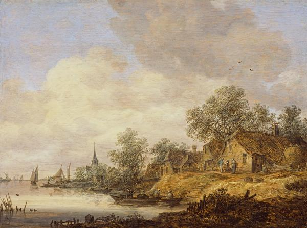A River Scene (Dated 1646)