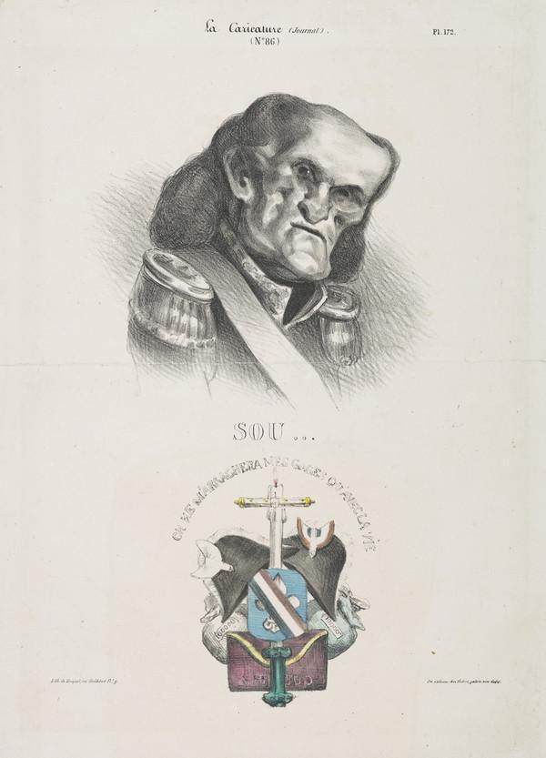 SOU…[Nicolas Jean-de-Dieu Soult], from 'Célébrités de la Caricature' (1832)