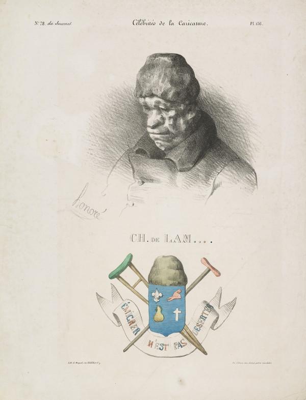 CH. de LAM (Comte de Lameth), from 'Célébrités de la Caricature' (1832)