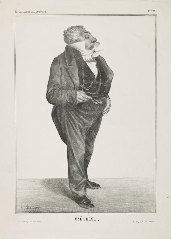 Mr. ÉTIEN... (Charles Guillaume Etienne), from 'Célébrités de la Caricature' (1833)