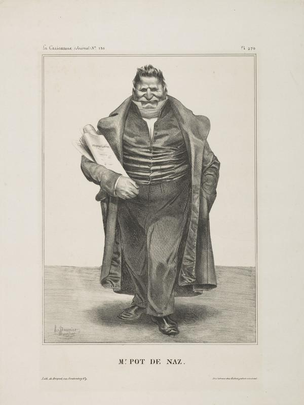Mr. POT DE NAZ (Baron de Podenas), from 'Célébrités de la Caricature' (1833)