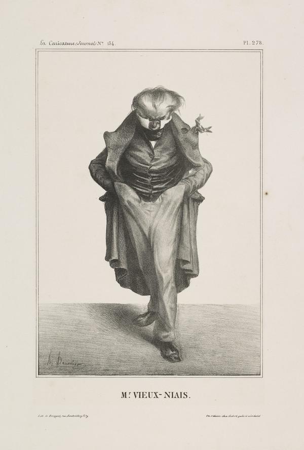 Mr. VIEUX-NIAIS (Jean-Pons-Guillaume Viennet), from 'Célébrités de la Caricature' (1833)
