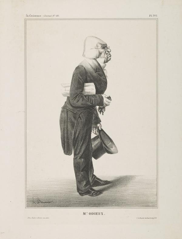 Mr. ODIEUX (Antoine Odier), from 'Célébrités de la Caricature' (1833)