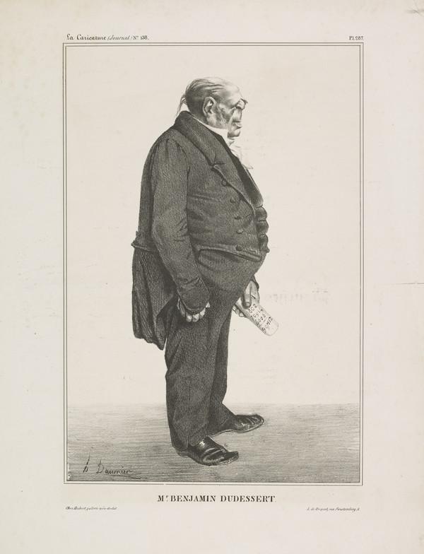Mr. BENJAMIN DUDESSERT (Benjamin Delessert), from 'Célébrités de la Caricature' (1833)