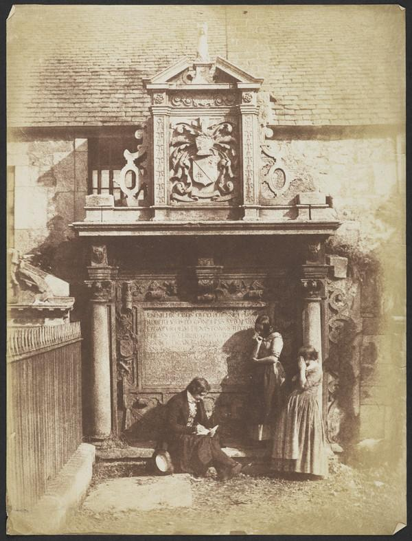 Greyfriars' Churchyard, the Dennistoun Monument with David Octavius Hill and his nieces the Misses Watson [Edinburgh 48]