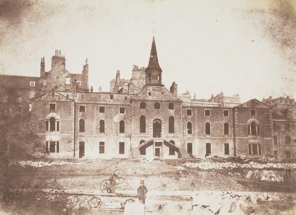 The Orphan Hospital during demolition, on the site of Waverley Station [Edinburgh 20] (1843 - 1847)