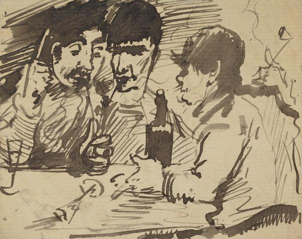 Joseph Crawhall, 1861 - 1913. Artist (With Sir James Guthrie, 1859 - 1930, artist, and Edward Arthur Walton, 1860 - 1922, artist)