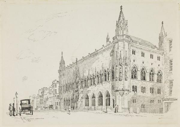 Scottish National Portrait Gallery; interior and exterior views (Drawn 1890)