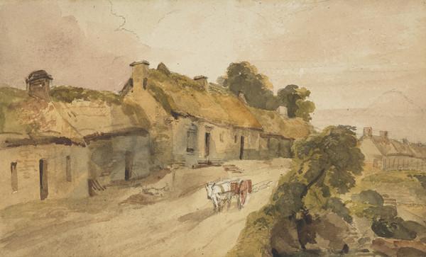 Robert Burns, 1759 - 1796. Poet. (Burns' cottage at Alloway)