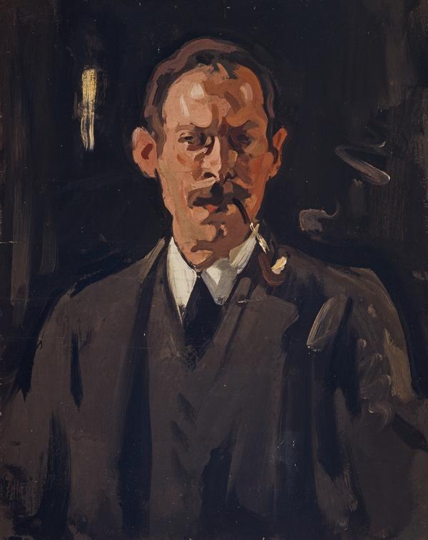 Samuel John Peploe, 1871 - 1935. Artist (Self-portrait) (about 1911)