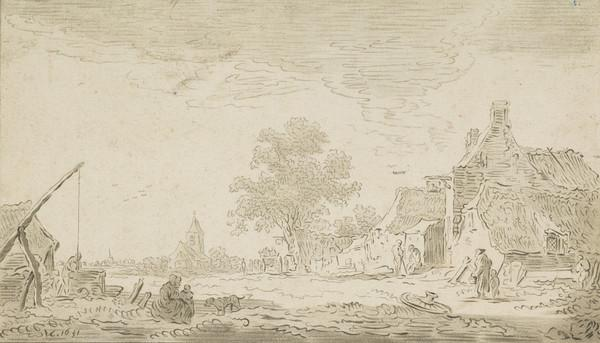 A view of the village of Renkum (1767 - 1780)