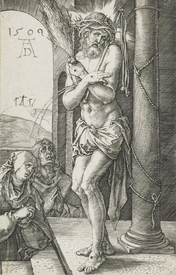 Man of Sorrows by the Column with the Virgin and Saint John (1509)