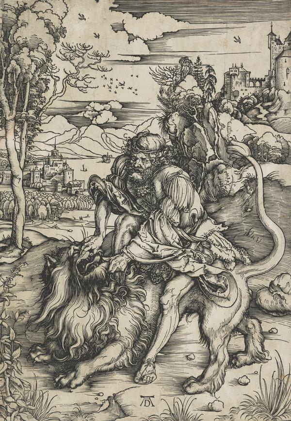 Samson Rending the Lion (About 1497 – 1498)