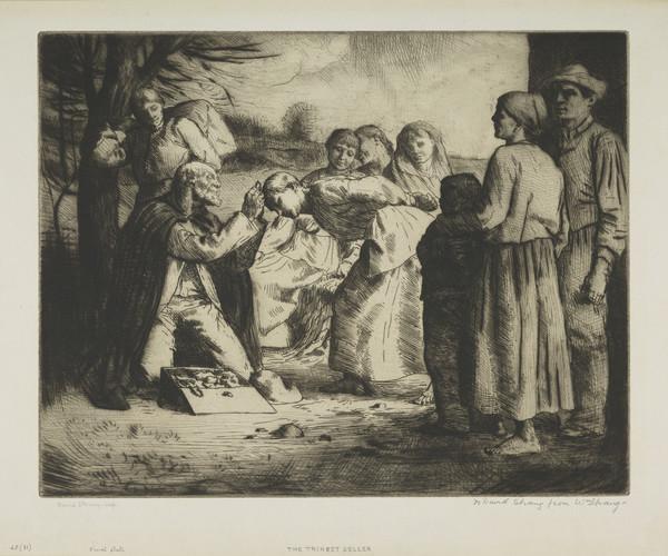 The Trinket Seller (Strang No. 45) (1883)