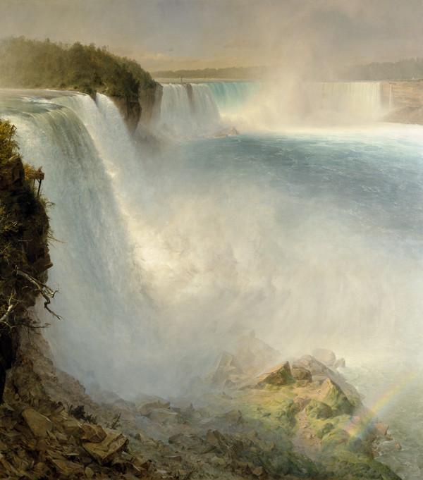 AMAZING NIAGARA NIAGRA FALLS WATERFALL PAINTING NATURE ART REAL CANVAS PRINT