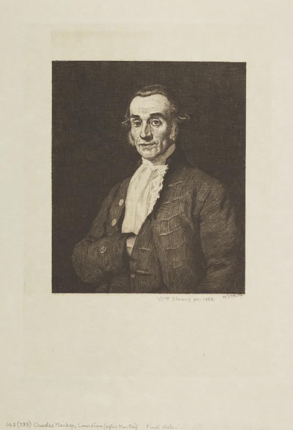 Charles MacKay (1787 - 1857), Comedian (Strang No. 143) (1888)