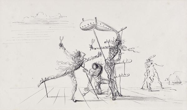 Untitled (Composition with Figures and Boat) (About 1938)