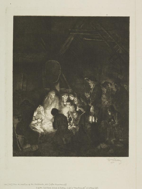 The Adoration of the Shepherds, No. 1 (Strang No. 136) (1887)