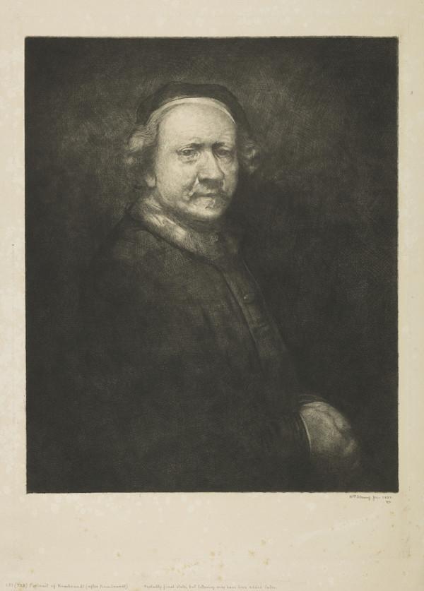 Portrait of Rembrandt (Strang No. 137) (1887)