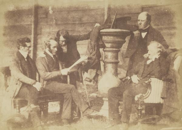 Annan Presbytery. Unknown man, Rev. Hugh McBryde Brown, perhaps Rev. George Duncan, perhaps Rev. James Mackenzie and Rev. Dr Henry Duncan ... (1843 - 1847)