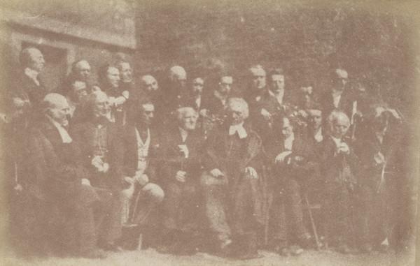 Edinburgh Presbytery.  Seated, Rev. Dr Robert Elder, Rev. Dr Pastrick Clason, Alexander Earle Monteith, Robert Cunningham Graham Speirs, Rev. Dr... (1843 - 1847)