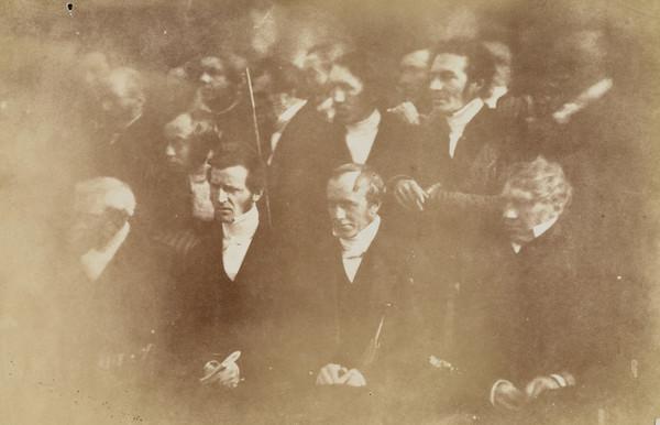 Ayr Presbytery. Sixteen men including Rev. James Stevenson seated second from left [Presbytery Group 5] (1843 - 1847)