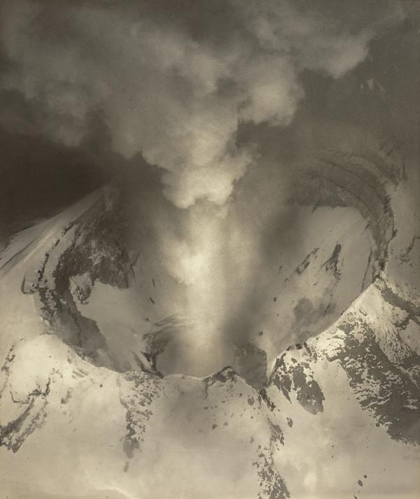 Volcano. Crater of Popocatepetl (About 1930)