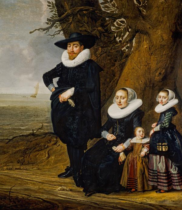 A Dutch Family Group (Portrait of a Man, Woman and Two Girls) (1633)