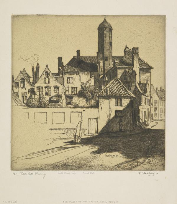 The Place of the Easterlings, Bruges (Strang No. 463) (1899)