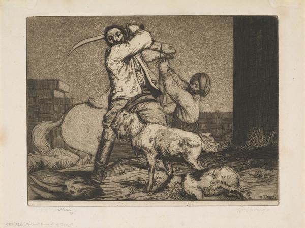 'Without Benefit of Clergy': Illustration to Rudyard Kipling's Short Stories (Strang No. 483) (1900)