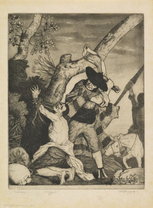 The Farmer's Boy: Illustration to 'Don Quixote' (Strang No. 535) (1902)