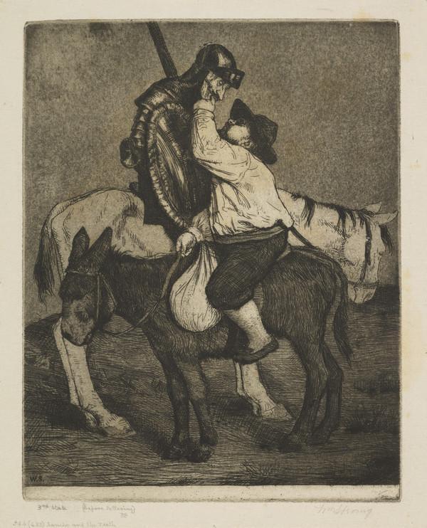 Sancho and the Teeth: Illustration to 'Don Quixote' (Strang No. 544) (1902)