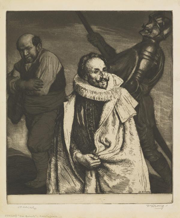 Frontispiece: 'Cervantes with Don Quixote and Sancho Panza (Strang No. 533) (1902)