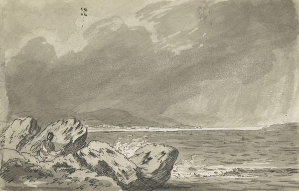 Firth of Clyde from the Gantocks [Verso: Sketch of Clouds with Castle in the Foreground]