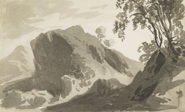 Highland Landscape [Verso: Compositional Sketch for a Highland Landscape]
