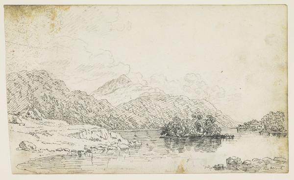 Loch Lomond [Verso: Sketch of Mountain Landscapes with Figures]