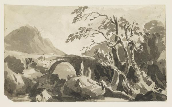 Highland Landscape with Drovers Bridge