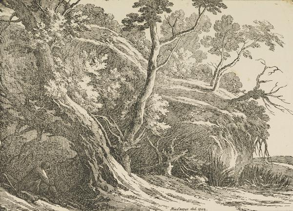 Landscape with Large Trees (Dated 1802)