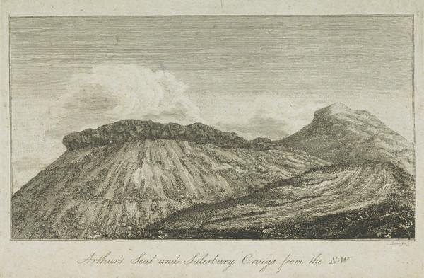 Arthur's Seat and Salisbury Crags, Edinburgh, from the South West