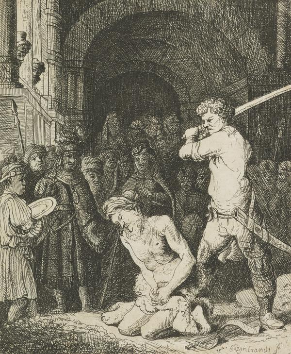 Execution of John the Baptist (in reverse)