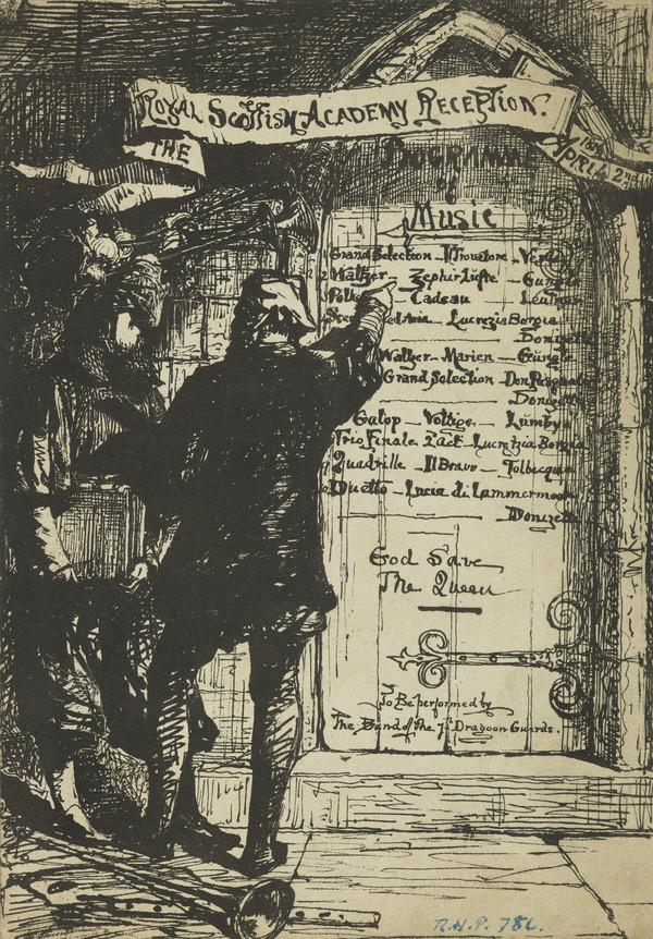 Royal Scottish Academy Reception Programme, 1856 (1856)