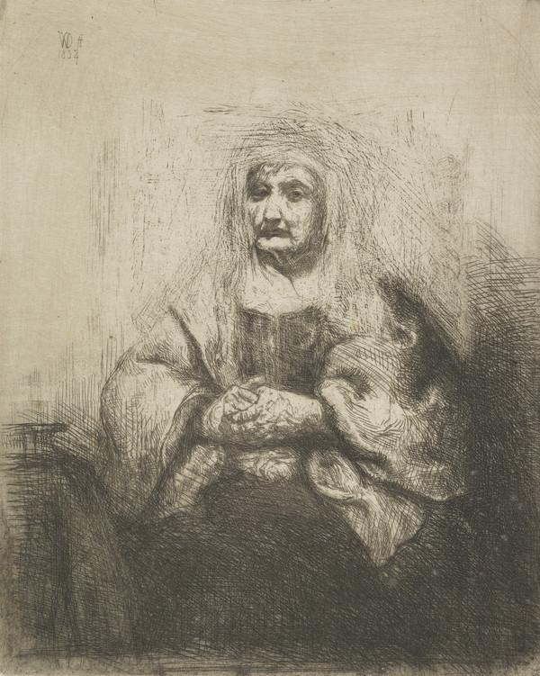 An Old Woman with Clasped Hands (Dated 1834)