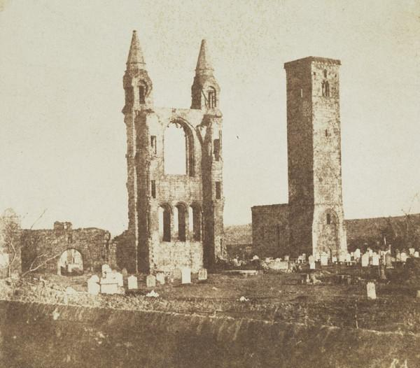St Andrews Cathedral, East Gable and St Rule's Tower [St Andrews 70]