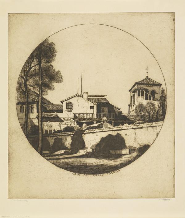 Casa Del Greco, Toledo (Strang No. 682) (1913)