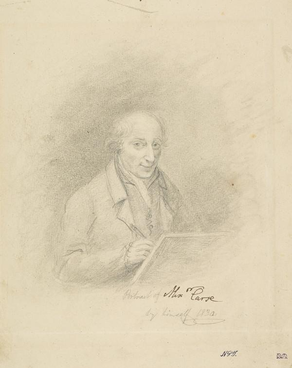 Alexander Carse, c 1770 - 1843. Artist (Self-portrait) (Dated 1830)