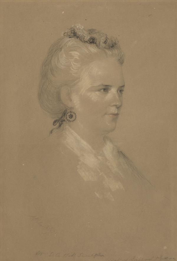 Amelia Robertson Paton, Mrs D.O. Hill, 1820 - 1904. Sculptress (About 1863)