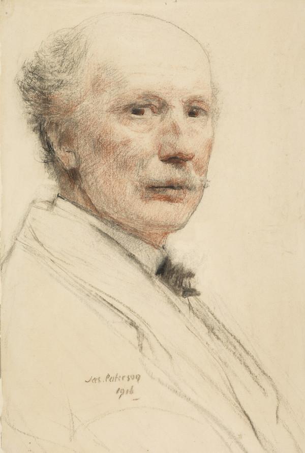 James Paterson, 1854 - 1932. Artist (Self-portrait) (1916)